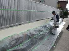 施工事例 石積みにフェンス設置のイメージ画像