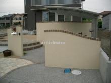 施工事例 門塀・門壁のレンガ笠木のイメージ画像