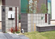 施工事例 ソリッドストーン&テクスチャープレート&アルミ柱のイメージ画像