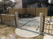 和洋折衷アプローチ施工事例 竹垣フェンスのイメージ画像