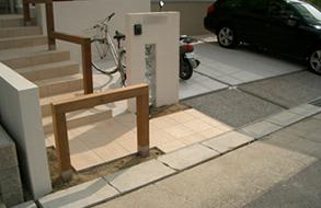 お洒落なオープン外構・アプローチ|名古屋市緑区