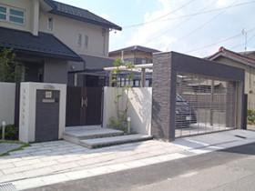 豊田市S様邸 門まわり・車庫・ウッドデッキ