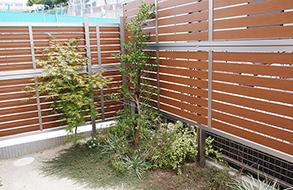 木製のお洒落な目隠しフェンス|名古屋市緑区