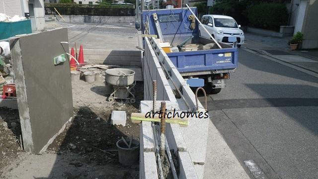 エクステリア工事 門塀