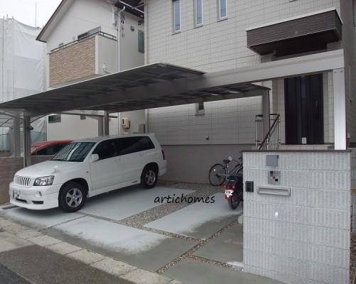 空間を彩るこだわりのカーポート!シンプルモダン外構|名古屋市緑区