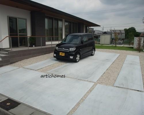 オープンフラットでモダンな雰囲気の駐車場に!| 大治町